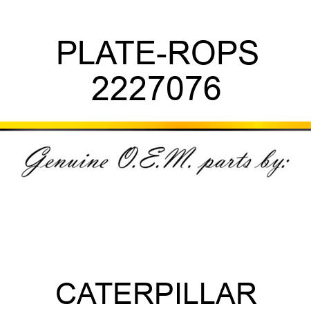PLATE-ROPS 2227076