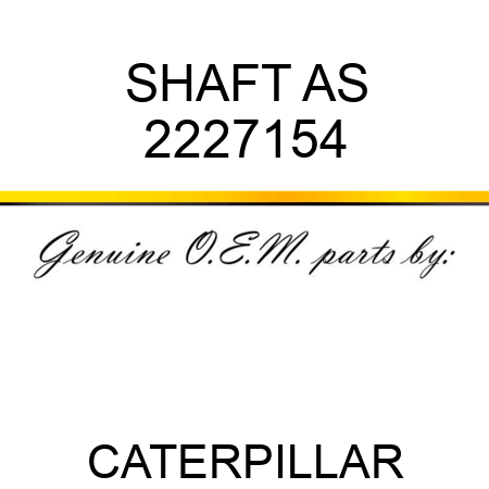SHAFT AS 2227154