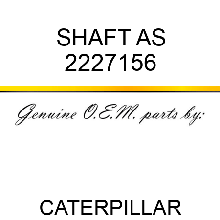 SHAFT AS 2227156