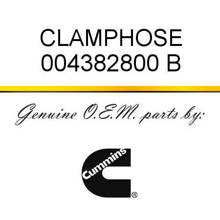 CLAMP,HOSE 004382800 B