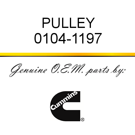 PULLEY 0104-1197