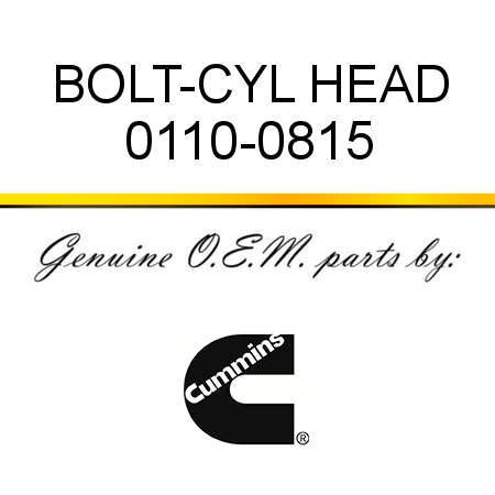 BOLT-CYL HEAD 0110-0815