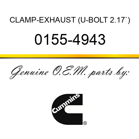CLAMP-EXHAUST (U-BOLT 2.17`) 0155-4943