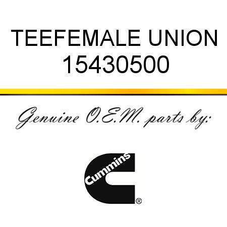 Cummins TEE,FEMALE UNION 154305