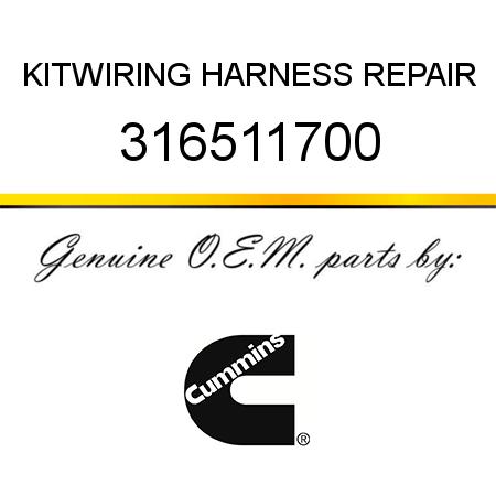 316511700 kit wiring harness repair 3165117 fit cummins. Black Bedroom Furniture Sets. Home Design Ideas
