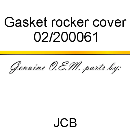 Gasket, rocker cover 02/200061