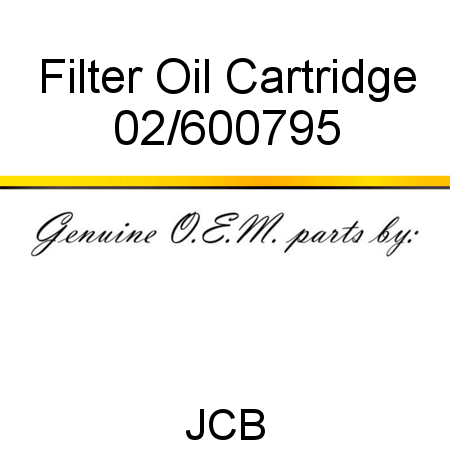 Filter, Oil Cartridge 02/600795