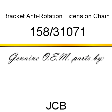 Bracket, Anti-Rotation, Extension Chain 158/31071