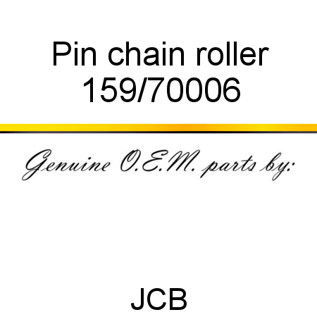 Pin, chain roller 159/70006