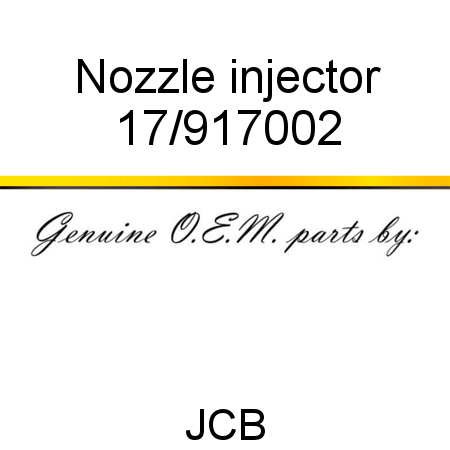Nozzle, injector 17/917002