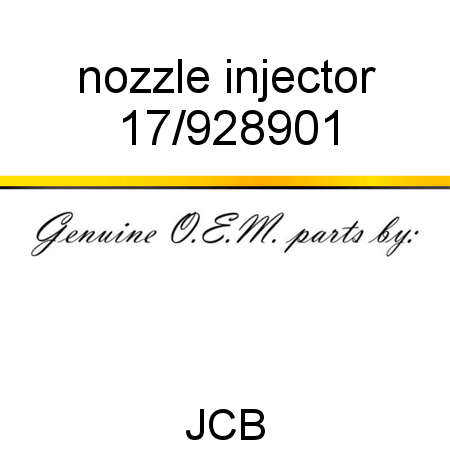 nozzle injector 17/928901