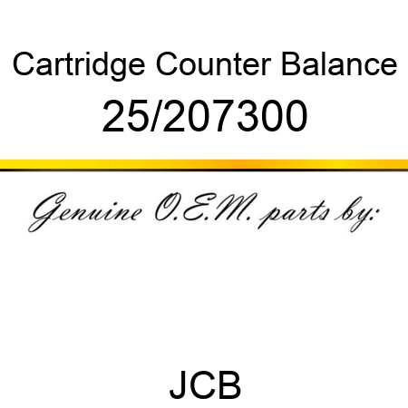 Cartridge, Counter Balance 25/207300