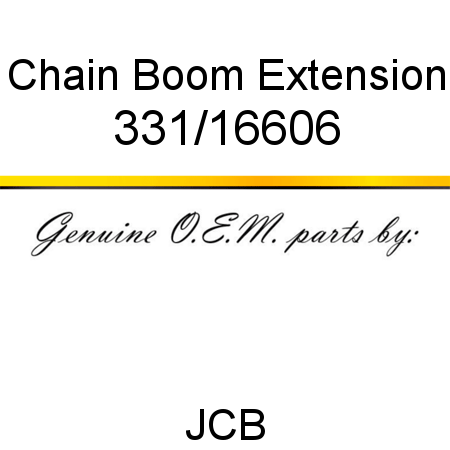 Chain, Boom Extension 331/16606
