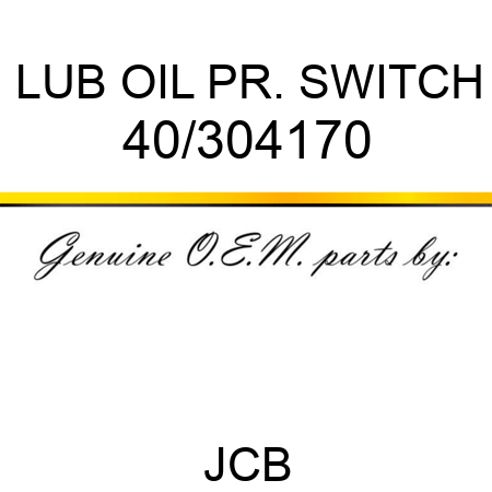 LUB OIL PR. SWITCH 40/304170
