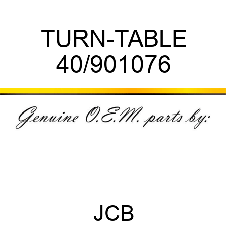 TURN-TABLE 40/901076