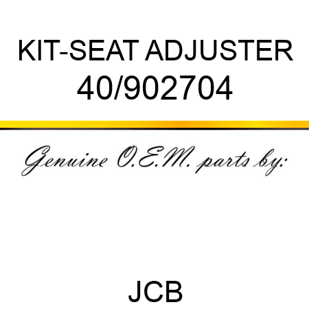 KIT-SEAT ADJUSTER 40/902704