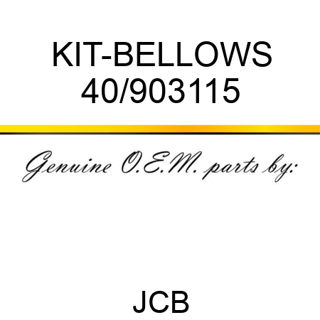 KIT-BELLOWS 40/903115