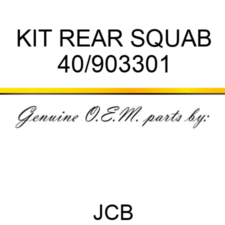 KIT REAR SQUAB 40/903301