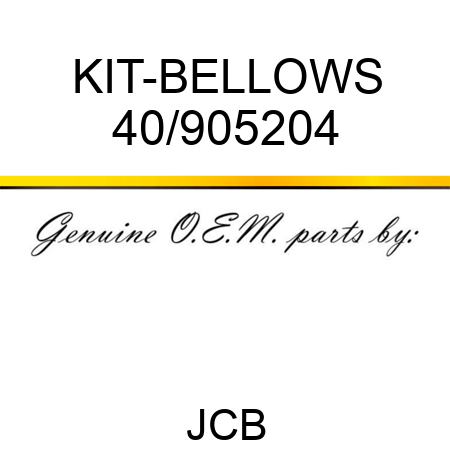 KIT-BELLOWS 40/905204