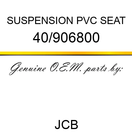 SUSPENSION PVC SEAT 40/906800