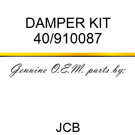 DAMPER KIT 40/910087