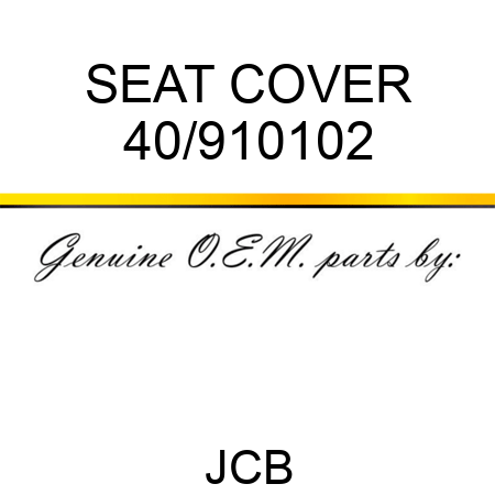 SEAT COVER 40/910102