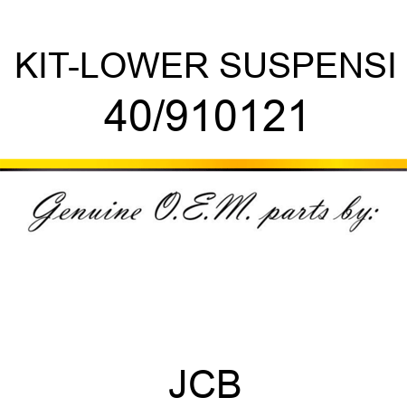 KIT-LOWER SUSPENSI 40/910121