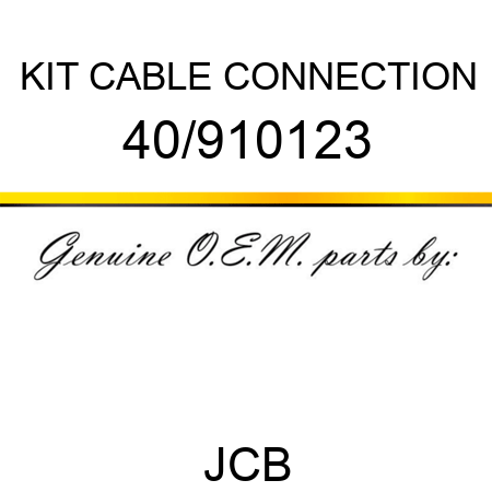 KIT, CABLE CONNECTION 40/910123