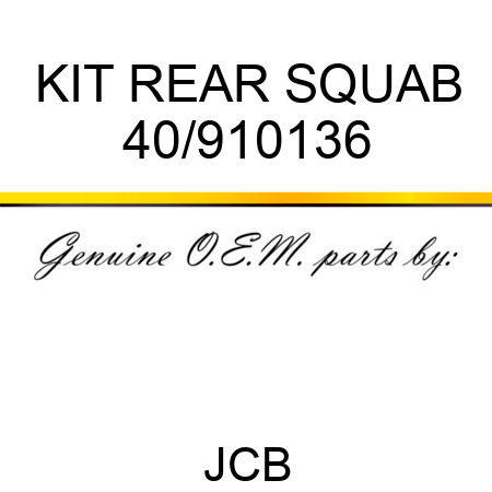 KIT REAR SQUAB 40/910136