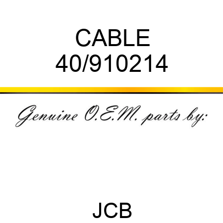 CABLE 40/910214