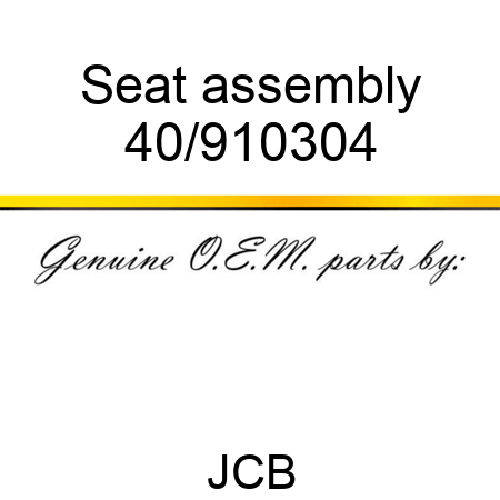 Seat assembly 40/910304