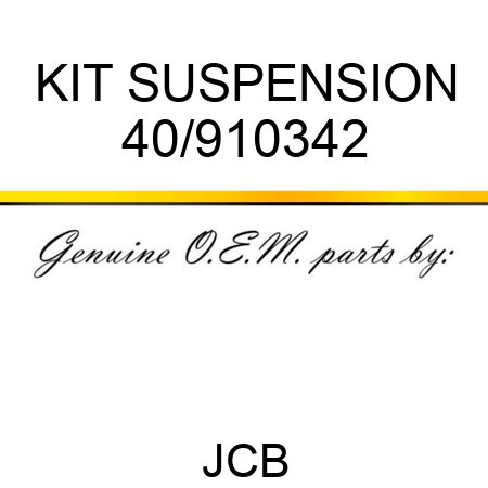 KIT SUSPENSION 40/910342