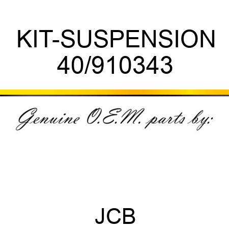 KIT-SUSPENSION 40/910343