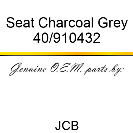 Seat Charcoal Grey 40/910432