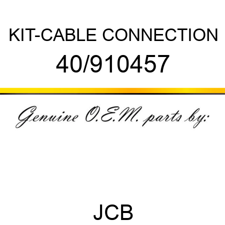 KIT-CABLE CONNECTION 40/910457