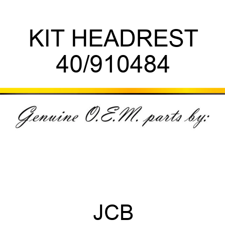 KIT, HEADREST 40/910484