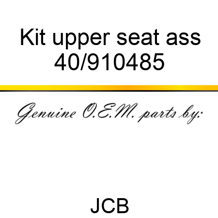 Kit upper seat ass 40/910485