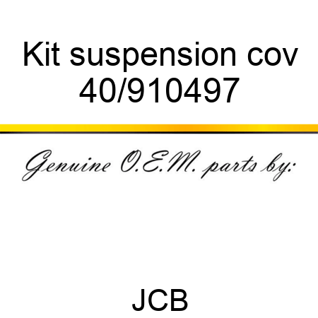 Kit suspension cov 40/910497