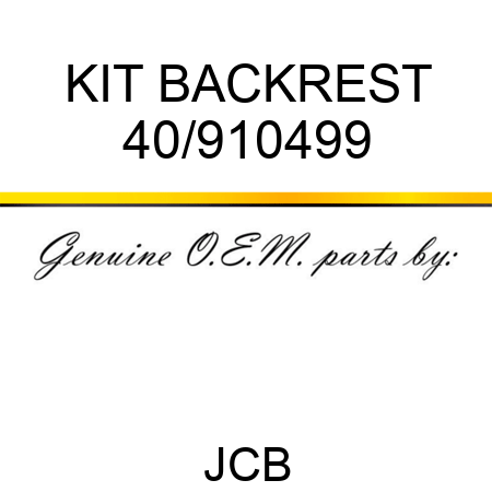 KIT BACKREST 40/910499