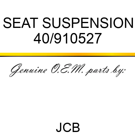 SEAT SUSPENSION 40/910527
