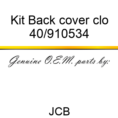 Kit Back cover clo 40/910534