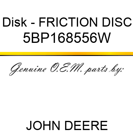 Disk - FRICTION DISC 5BP168556W