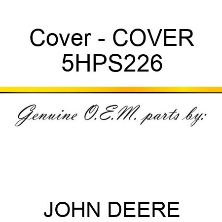 Cover - COVER 5HPS226