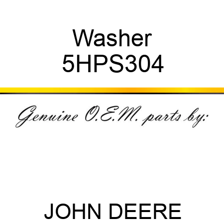 Washer 5HPS304