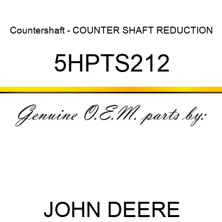 Countershaft - COUNTER SHAFT REDUCTION 5HPTS212