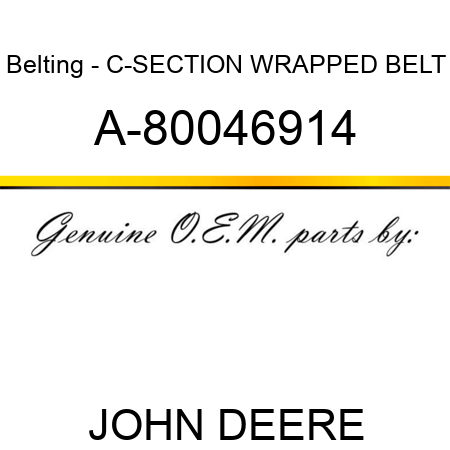 Belting - C-SECTION WRAPPED BELT A-80046914