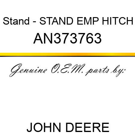 Stand - STAND, EMP HITCH AN373763