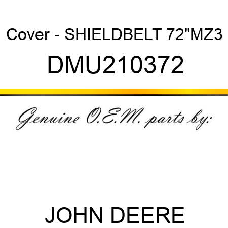 John Deere Original Equipment Cover #DMU210372