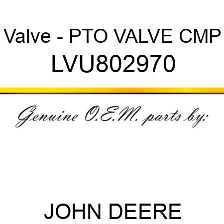 LVU802970 Valve - PTO VALVE CMP JOHN DEERE OEM part Engine, Valves