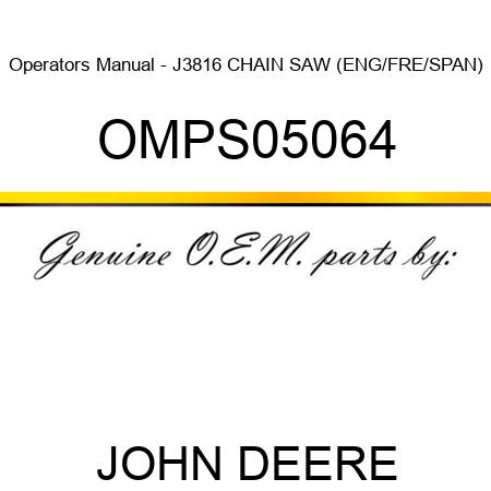 john deere j3816 operator manual owners manual book u2022 rh canonijsetup co John Deere J3816 Fuel John Deere J3816 Chainsaw Carburetor